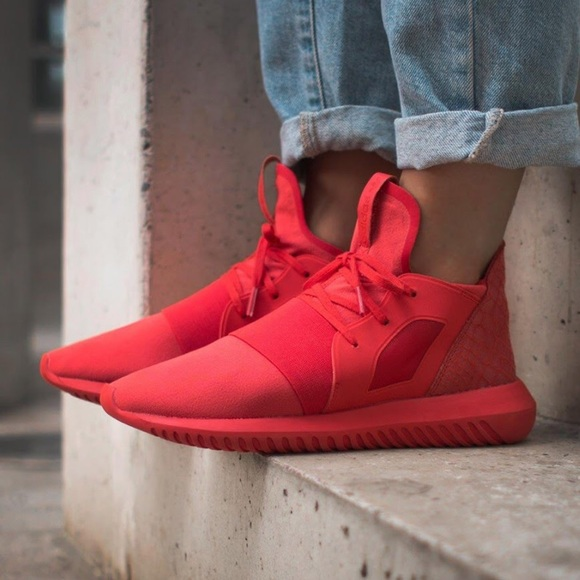 buy online c2269 6d8ba adidas Shoes - Adidas Tubular Defiant Womens All red sneaker
